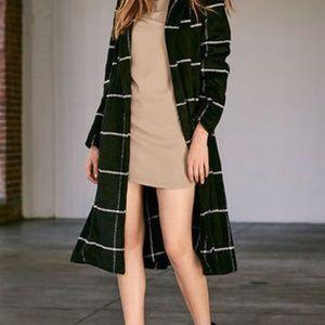 BB Dakota Women's Braylee Black Plaid Coat